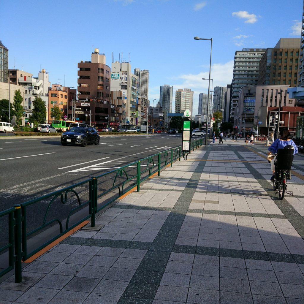 新橋行 バス停留所