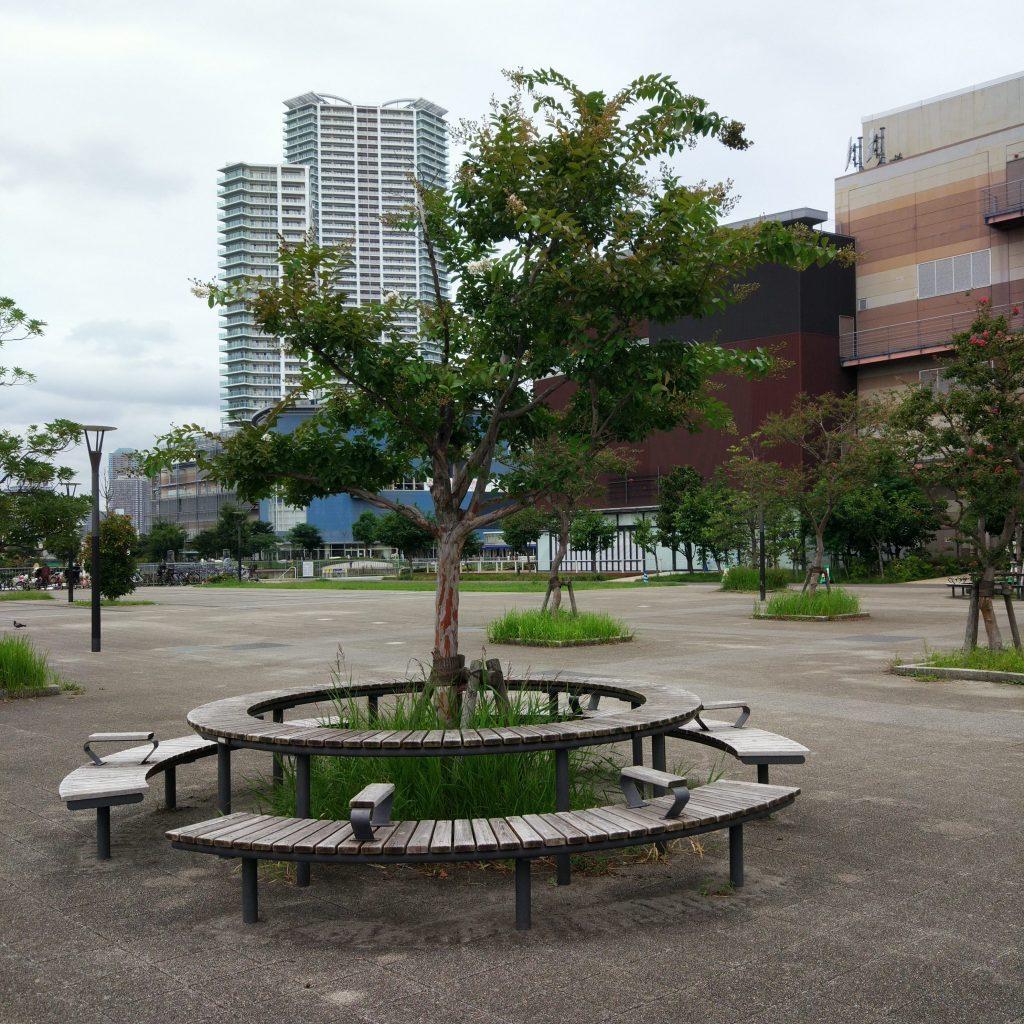 豊洲公園 ベンチ